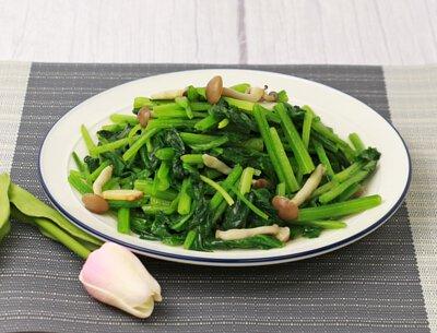鴻喜菇鮮菠菜