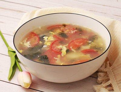 蕃茄海苔蛋花湯
