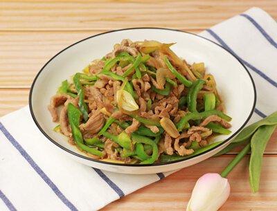 水果綠椒炒肉絲