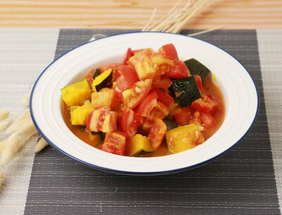 蕃茄燒金瓜