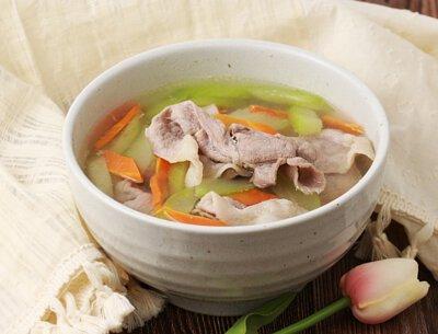黃瓜肉片湯