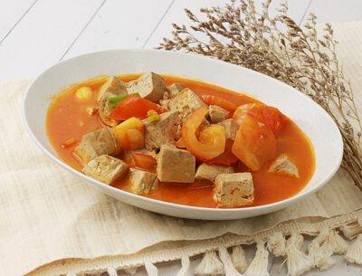蕃茄燒黑豆腐