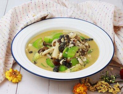 金銀絲瓜燴雙菇