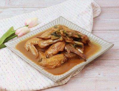 三星蔥燒雞翅