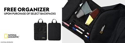 Free Organizer upon purchase selected backpacks