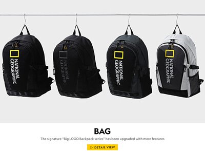 "The signature ""Big LOGO Backpack series"" has been upgraded with more features"