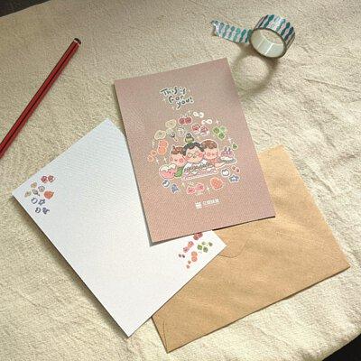 祝福卡片及牛皮信封