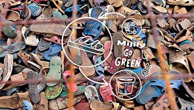 論壇報|【台灣人每分鐘丟10雙鞋】把廢鞋變盆栽 陳鵬宏青創環保鞋印上經文
