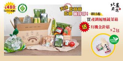 買產銷履歷蔬菜箱送有機金針菇