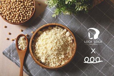 localoca 減醣減卡豆渣輕烘焙,吐司、麵包、貝果,採用加拿大非基因改造黃豆製成新鮮豆渣。