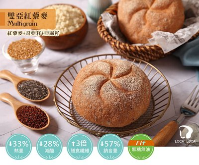 localoca減醣減卡豆渣輕麵包,減醣、高纖、減卡,低碳麵包帶來輕盈生活。