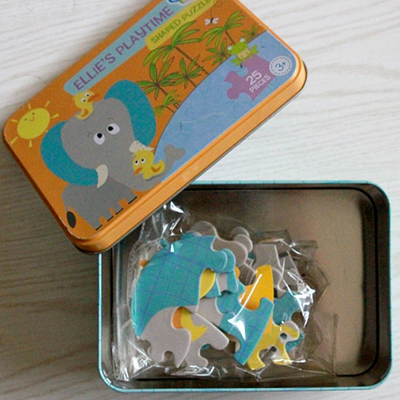 Gibby&Libby 造型拼圖 Shaped Puzzle - 大象的遊戲時間