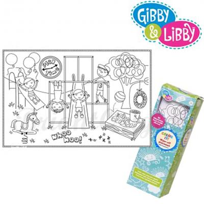Gibby&Libby 矽膠畫畫餐墊  - 公園時間