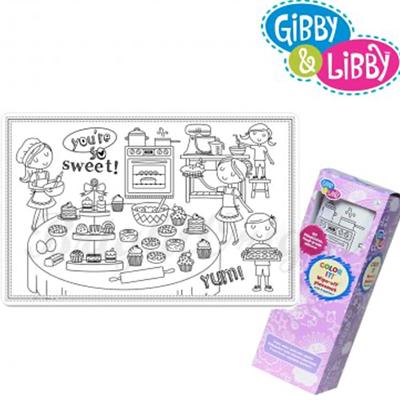 Gibby&Libby 矽膠畫畫餐墊 - 廚房小幫手