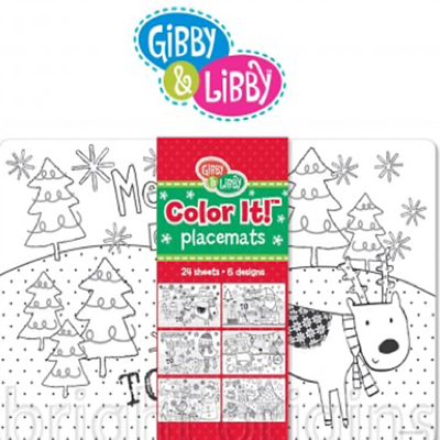 Gibby&Libby 餐墊紙 - 耶誕假期