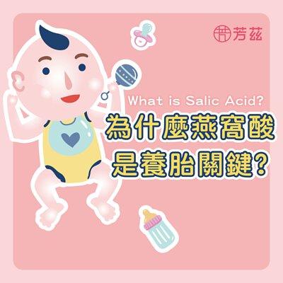 芳茲生技告訴您為何燕窩酸是養胎關鍵,燕窩酸又名唾液酸是細胞及腦神經系統的主營養成份,靠著日本專利技術協助孕媽咪與寶寶利用高濃度燕窩酸從孕期開始資優養成。