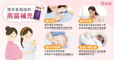 備孕時期以及孕期的女性,需要足夠的營養來滿足自身的運作以及胎兒的發育,燕窩是滋補的營養食品,很適合備孕期的女性或者是孕期中、產後哺乳的媽媽做營養補充。