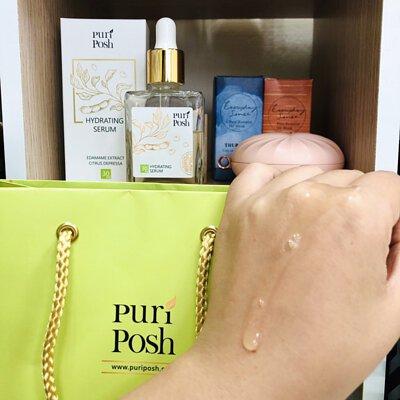 PuriPosh煥妍緊緻精華液 吸收度不錯,很喜歡淡淡的味道