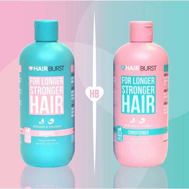 Bộ 2 Chai Dầu Gội /Xả Hairburst For Longer Stronger 350