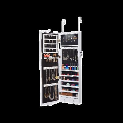 white jewlery cabinet