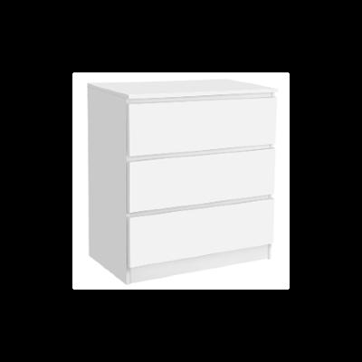 3-Drawer Chest white