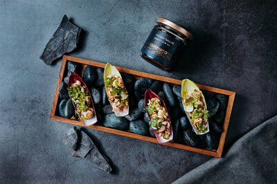 石本工作室-辣味北海道XO醬食譜 海鮮塔塔生菜沙拉
