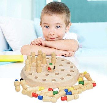 Kids Wooden Memory Match Stick Chess Game Fun Block Board Educational Toys Heiß