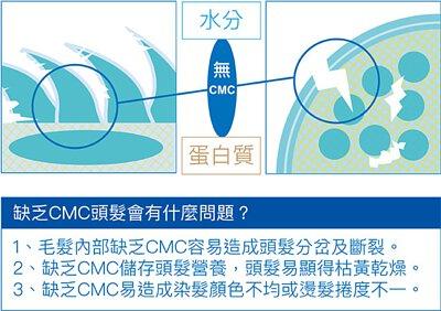 缺乏CMC的頭髮會有什麼問題