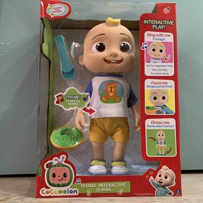 CoComelon Roto Plush Deluxe Interactive JJ Doll hk mk tst st